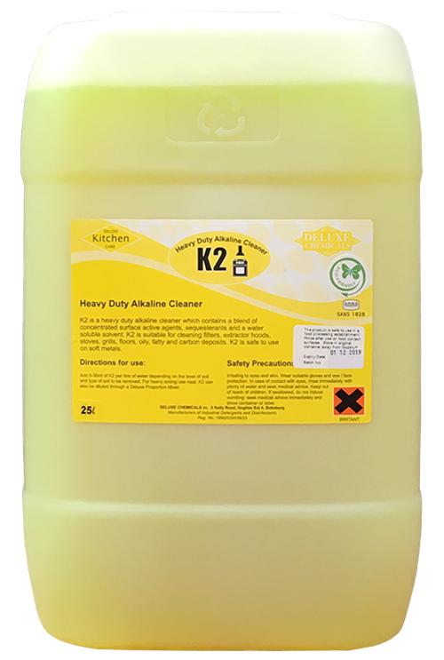 Alkaline cleaner used in the kitchen to remove soiling and grease