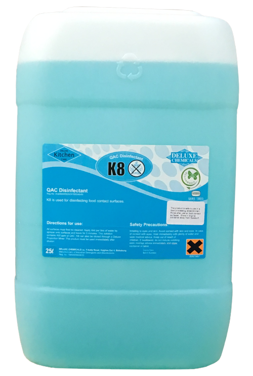 liquid disinfectant used to clean food contact surfaces in the kitchen