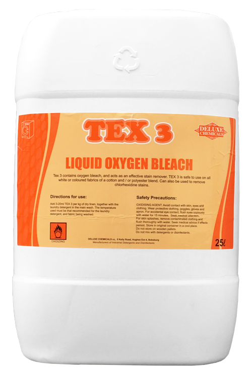 liquid oxygen bleach used to remove tough stains on any colour fabric