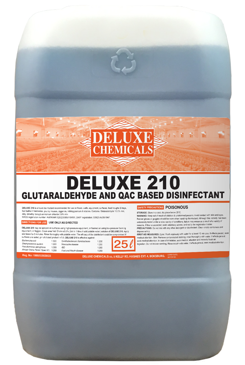 QAC-based disinfectant for use in hatcheries and poultry houses to disinfect surface areas in the poultry industry.