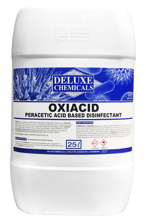 Peracetic acid disinfectant that has the ability to kill Listeria