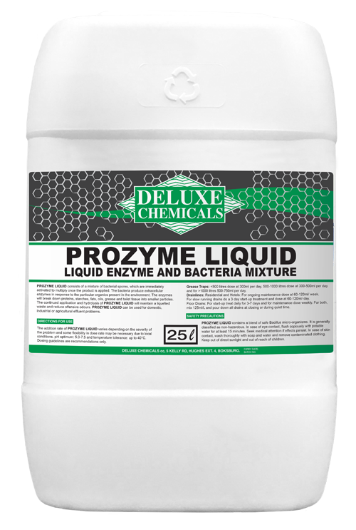liquid enzyme mixture to break down fats and proteins from grease traps ad drain lines.