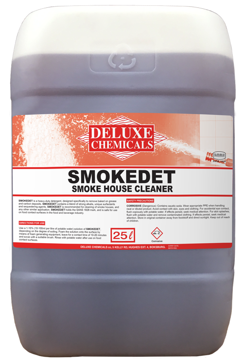 Smokehouse cleaner detergent for use in smoke houses in the Food and Beverage Industry