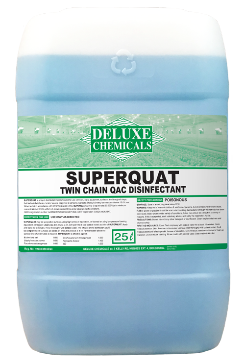 QAC disinfectant for poultry houses and hatcheries