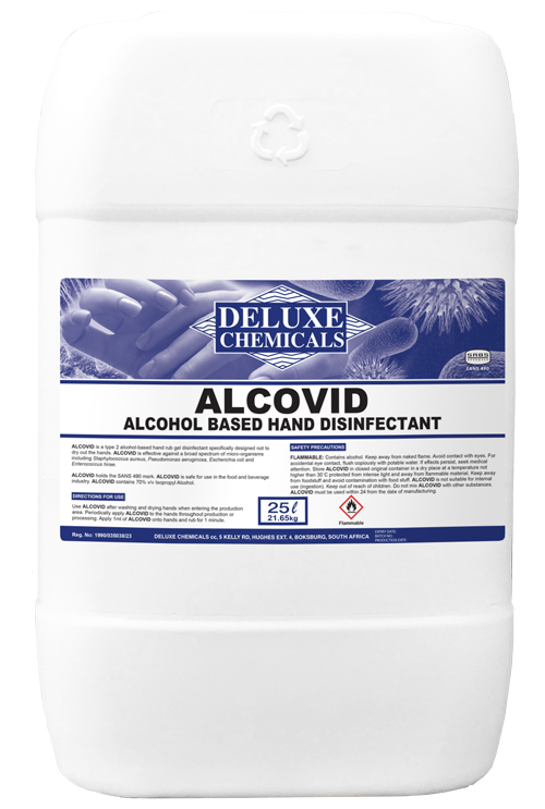 Alcohol based hand disinfectant